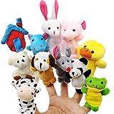 JZK 11 Klein Tier Fingerpuppe Set plüschtier Handpuppe Mitgebsel Geschenk Gastgeschenk für Geburtstag Kinder Party Tasche Füllstoffe Weihnachten