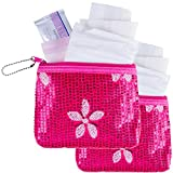 First Period Kit to-go! (Period Starter Kit with Organic Pads) - 2 Pack (Pink)