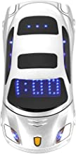 Student Flip Phone for Ferrari Car-Shape Phone Flip Keypad Car Model Mobile Phone GSM Cell Phone 100-240V, Support SMS, MP3, Camera, Video Playback, Recording, Radio, Bluetooth, Calculator(White)