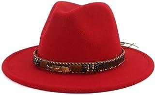 1c32f7888b0 Vim Tree Men Women Ethnic Felt Fedora Hat Wide Brim Panama Hats with Band