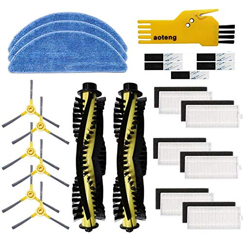 Accessori di ricambio per aspirapolvere robot IKOHS netbot S15 Confezione da 2 pezzi spazzola principale 6 pezzi filtro 4 pezzi spazzole laterali 3 pezzi mop