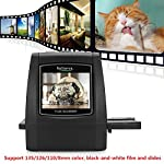 Businda All-in-1 Film & Slide Scanner, Converts Films/Slides/Negatives to Digital Photos Built-in 128MB Memory 2.4 LCD Screen High Resolution 14MP/22MP Easy Load Film (16GB) Support Details