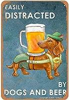 簡単に犬とビールダックスフント金属レトロな外観20