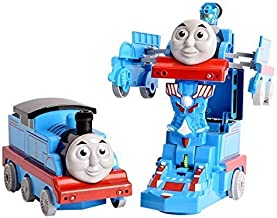 HRK Pull Push Back Action Robot Train Toy for Kids - Converting Train to Robot for Kids, Train Engine with LED Lights.