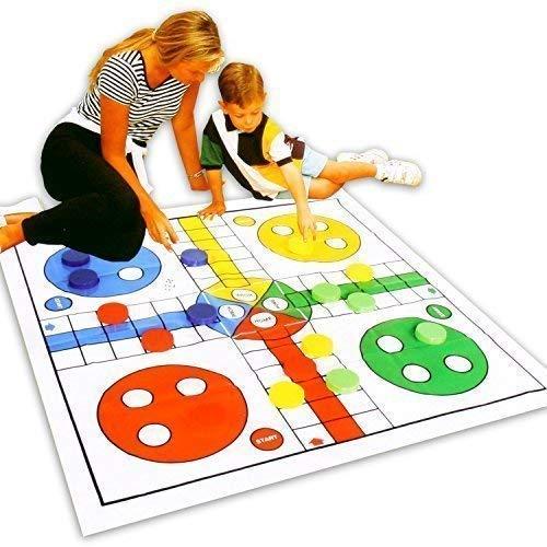 Große Spielmatte für drinnen oder draussen mit dem Gesellschaftsspiel