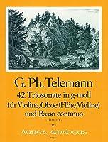 TELEMANN - Trio Sonata en Sol menor (TWV:42/g12) para Oboe, Violin y BC (Partitura/Partes)