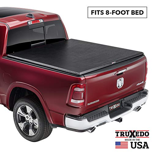 TruXedo TruXport Soft Roll Up Truck Bed Tonneau Cover | 248901 | fits 09-18, 19-20 Classic Ram 1500, 2500, 3500 with or without Multifunction tailgate 8' bed,Black