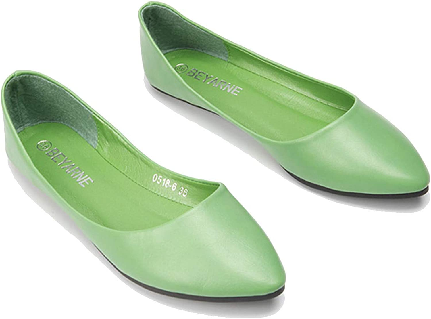 Owen Moll Women Flats, Casual Solid Shallow Pointed Toe shoes 4 colors