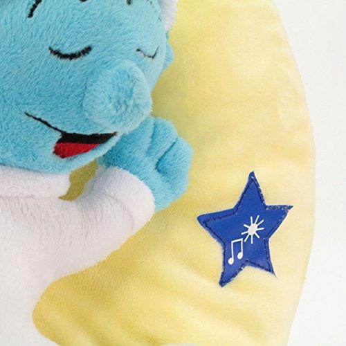 ANSMANN LED-Mondnachtlicht Schlumpf / Niedliche Einschlafhilfe zum Kuscheln mit Schlummerliedfunktion & sanftem Licht für ruhigen Tiefschlaf / Kuschelweiches 2-in-1 Plüschtier für Babys & Kleinkinder - 4