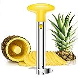 Stainless Steel Pineapple Corer Pineapple Slicer Pineapple Peeler 3 in 1,Yellow