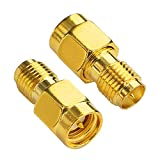 BOOBRIE SMA WiFi Adapter RP-SMA Female to SMA Male Coaxial Connector RF Antennas Plug Connector RP-SMA to SMA Adapter SMA Plug to RP SMA Jack for FPV Drone Pack of 2