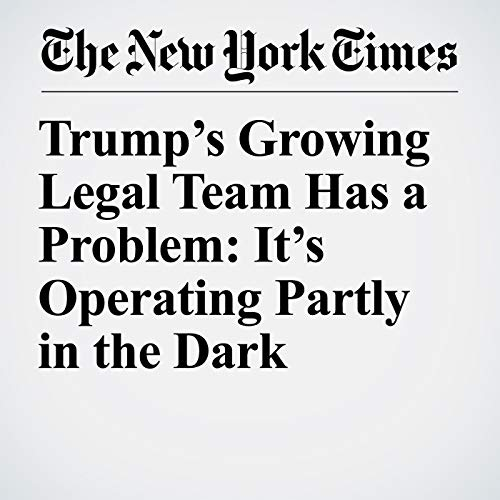 Trump's Growing Legal Team Has a Problem: It's Operating Partly in the Dark copertina