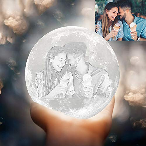 3D Moon Lamp Personalised With Photo
