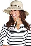 Coolibar UPF 50+ Women's Flora Gardening Hat - Sun Protective (Small/Medium- Natural Herringbone)
