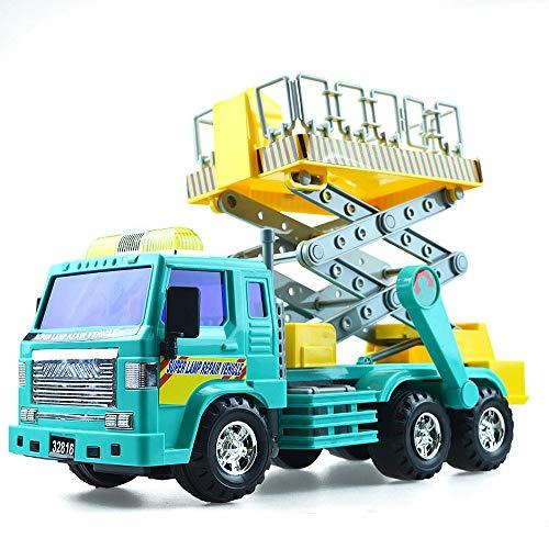 Xolye Trägheit Vorwärts Medium Klettern Auto Spielzeug Simulation Straßenlaterne Reparatur Auto Modell Outdoor Arbeit Spielzeug Auto Unterricht Hilfsmittel Geschenk Jungen Kind Engineering Auto Spielz