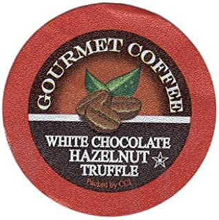 White Chocolate Hazelnut Truffle Coffee, 24 Count, Single Serve Cups Compatible With All Keurig K-cup Brewers