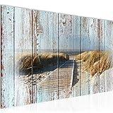 Playa decoración de la pared mesa y Mar - 200 x 80 cm Vista de impresión en lienzo Salón Apartamento - listo para colgar - 604055b