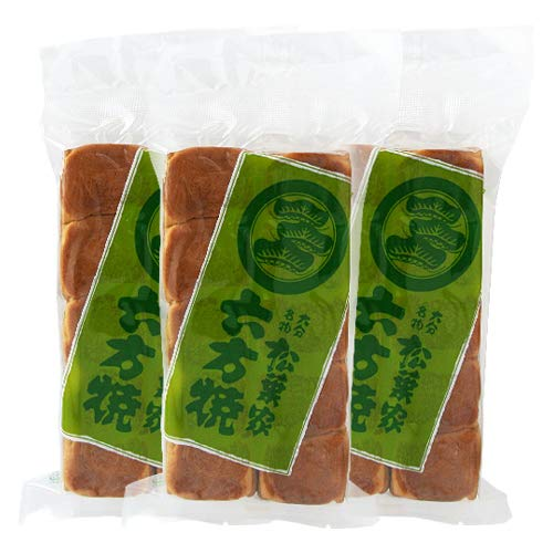あんこぎっしりの大分銘菓 六方焼(黒あん) 10個入り×3袋セット 松葉家