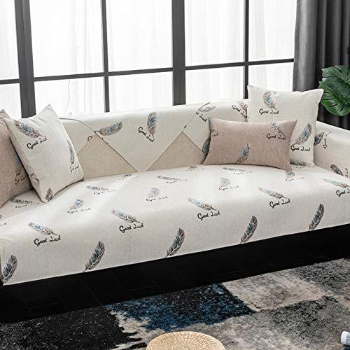 HXTSWGS Four Seasons Funda Universal para sofá Funda para sofá Funda para Asiento Cojín para Asiento Toalla de sofá Antideslizante Sala de Estar-White_W70xL70cm