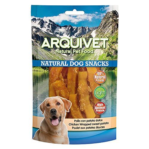Arquivet Pollo con patata dulce - Natural Dog Snacks - Snacks perros - 100 g