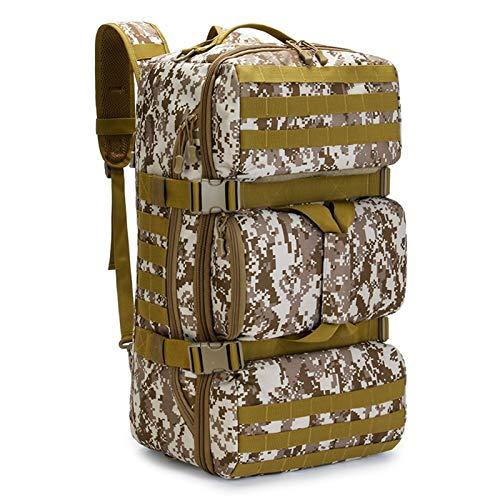 65L Camping Backpack Luggage Bag Outdoor Trekking Travel Bag Climbing Bags Sports Men Molle Bag gym backpack hiking bags rucksacks for men backpack mens (Capacity : 50 70L, Color : Desert Digital)