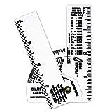 Mini Pipe Caliper/Diameter Caliper and Ruler - Fractional - 5 Pack