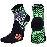 Fascigirl 1 Pair Men Sports Socks Elastic Breathable Running Socks Compression Socks (Large)