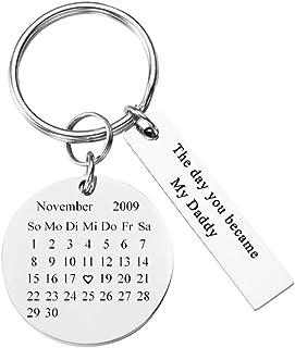 Personalized Master Partner Schlüsselanhänger Gravur  Kalender Adventskalender Schöner Tag Edelstahl Paar Schlüssel Anhänger Silber  Personalisierte Geschenke
