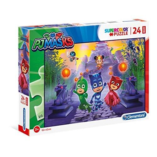 Clementoni - 24205 - Supercolor Puzzle - Pj Mask - 24 Maxi Pezzi - Made In Italy - Puzzle Bambini 3 Anni +