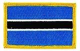Aufnäher zum Aufbügeln, bestickt mit der Flagge von Botswana