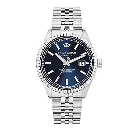 PHILIP WATCH Herren Analog Automatik Uhr mit Edelstahl Armband R8223597011