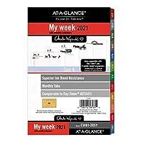AT-A-GLANCE ウィークリー/マンスリープランナー詰め替え 5-1/2インチ x 8-1/2インチ チャールズ・ワイソッキー 2021年1月~12月 CW81-285Y
