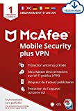McAfee Mobile Security Plus VPN 2021   antivirus, VPN, Securite internet, bloqueur de publicités, protection contre le vol physique   1 Smartphone or Tablet  1 year  Download