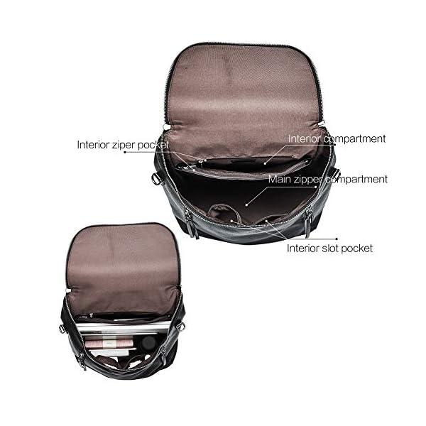 CLUCI Genuine Leather Women Backpack Purse Fashion Large Designer Travel Ladies Shoulder Bag 4