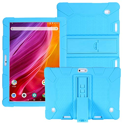 HminSen Case for Dragon Touch Notepad K10 / Max10 Tablet, Silicone Stand Cover Compatible Dragon Touch K10, Victbing 10, ZONKO 10.1,Hoozo 10, Winsing 10, Lectrus 10.1 Android Tablet.(Sky Blue)
