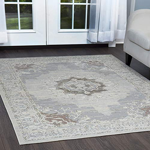 Home Dynamix Shabby Chic Pastel Alma Area Rug, Cotton Blend  5'2