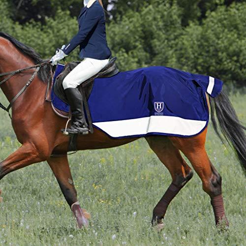 Harrison Howard Alpine Climax Ausreitdecke Wasserdichtes Hi-Vis-Pferd Reflektierende Nachtsicherheit Pferdetrainingsdecke mit Schwanz Butt Strap Marine L