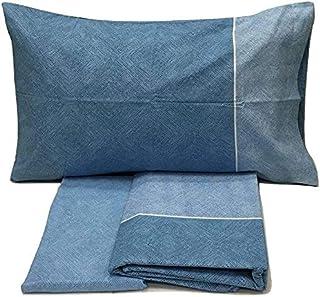 Bassetti - Juego completo de funda nórdica de algodón para cama de matrimonio Dream, con funda nórdica de dos plazas, bolsa, bajera y fundas de almohada