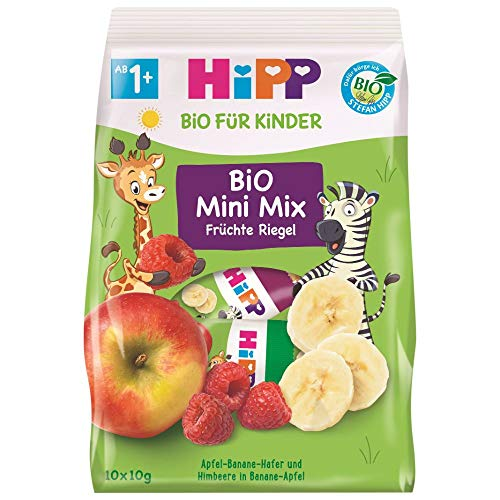 Hipp Bio für Kinder Bio Mini Mix Früchte Riegel, 100 g