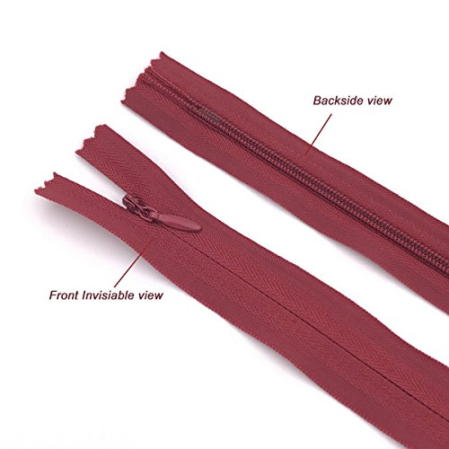 18 inch, Mix Color 40PCS Nylon Invisible Zipper,DIY Sewing Zippers for Handmade Garment//Bags//Home Textile,Tailor Sewer Crafters Special