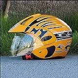 Helmet Casque de Jeunesse pour Enfants, Protection de Moto de Planche à roulettes de Bicyclette, Choix Multiple de Couleur de Dessin animé,Yellowa,S