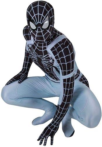WEGCJU Costume Spiderhomme Collants Spiderhomme Spiderhomme DéguiseHommest HalFaibleeen Perforhommece Costume Body Combinaisons Tenue Fête DéguiseHommest sur Le Thème De Film Props,Adult-L