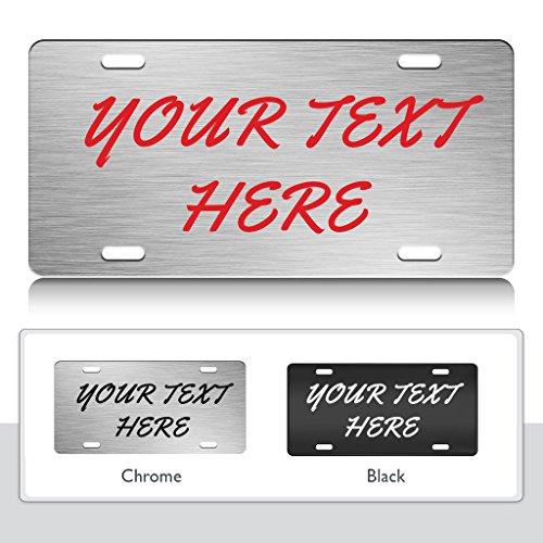 PERSONALIZED Custom License Plate Auto Tag Design Brush Script Font Ch.