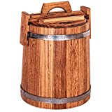 Wooden Bucket for Pickles and Sauerkraut, Wood Crock for Fermentation