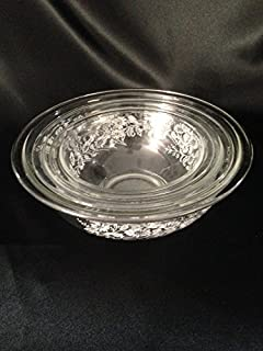 Pyrex Clear Colonial Mist Mixing Bowls Set of 3