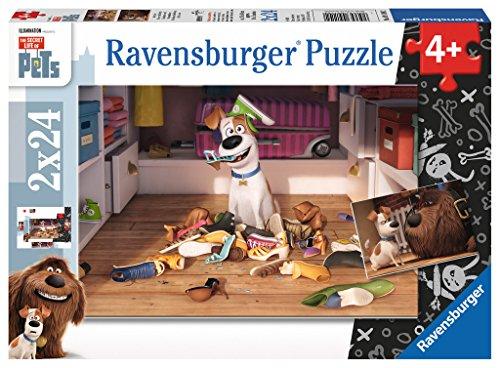 Ravensburger Italy- Pets Puzzle per bambini-2x24 Pezzi, Multicolore, 09110