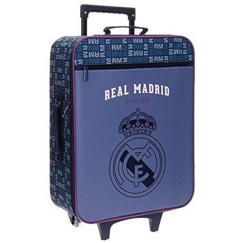 Real Madrid 5649151 Basic Equipaje Infantil, 52 cm, 26 litros, Multicolor