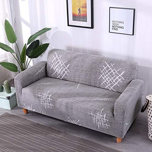 WXQY Funda de sofá elástica Funda de sofá elástica elástica Fractal para Sala de Estar Funda de sofá en Forma de L Funda de sillón, Funda de sofá A2 4 plazas