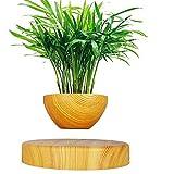 Florero de cerámica Ronda suspendida magnética de la Planta de Maceta Flotante con Interior Que levita para el Asimiento Hecho a Mano