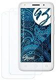 Bruni Schutzfolie kompatibel mit Alcatel One Touch Pixi 4 (5) Folie, glasklare Displayschutzfolie (2X)